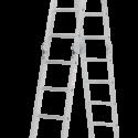 Четырёхсекционная алюминиевая многофункциональная лестница-трансформер NV 2320
