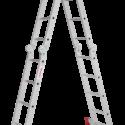 Четырёхсекционная алюминиевая многофункциональная лестница трансформер с помостом NV 2330