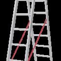 Лестница алюминиевая двухсекционная NV 222