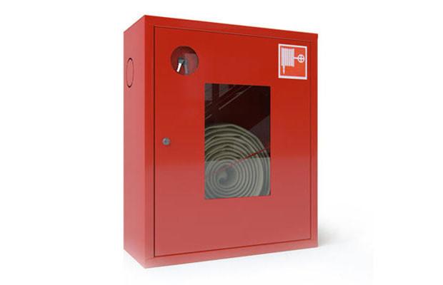 Шкаф для пожарных кранов встроенный с окном - ШПК-310 ВОК