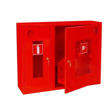 Шкаф для пожарных кранов навесной с окном - ШПК-315 НОК