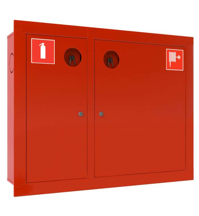 Шкаф для пожарных кранов встроенный без окна - ШПК-315 ВЗК