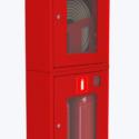 Шкаф для пожарного крана навесной с окном — ШПК-320 НОК