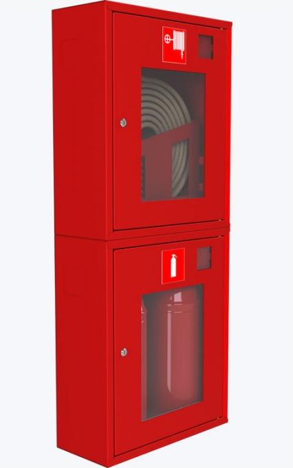 Шкаф для пожарного крана навесной с окном - ШПК-320 НОК