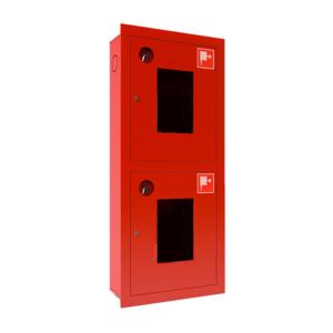 Шкаф для пожарного крана встроенный с окном - ШПК-320 В0К/Б-21