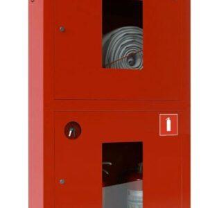 Шкаф для пожарного крана встроенный с окном - ШПК-320 ВОК
